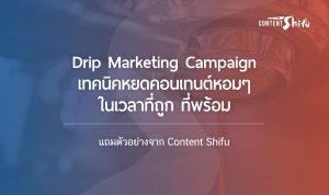drip campaign content shifu