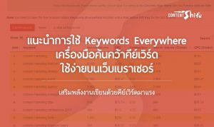 keywords research with keywords everywhere extension